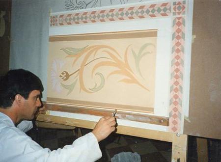 Decorazioni ad affresco per pareti interne ed esterne for Fregi decorativi