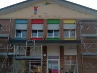 Decorazione e pittura della facciata dell'asilo di Barbano