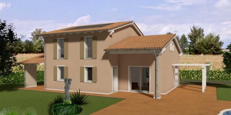 casa singola in costruzione, con ampio terreno.