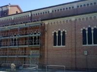 Restauro chiesa mattoni faccia a vista a Barbano di Grisignano